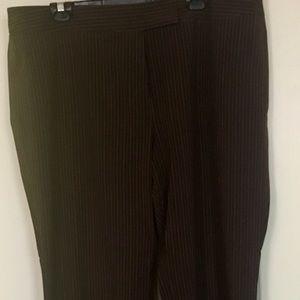 Venezia Brown Pin Stripe Trousers